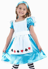 Girls Child Kids ALICE IN WONDERLAND Fancy Dress Costume Fairy Princess Age 2-9
