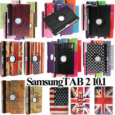 360 Deg Rotating Stand Leather Case Cover Samsung Galaxy Tab 2 10.1 P5100 P5110