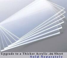 ".060"" Thick Clear Acrylic Sheet facing for Picture Frame Poster Frame"