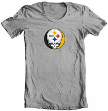 STEAL YOUR FACE STEELERS GRATEFUL DEAD JERRY GARCIA PRO FOOTBALL T-SHIRT