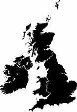 British Isles Silhouette Map a Vinyl Wall Art Sticker in any of 24 Colours UK GB