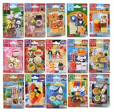 Gift Card Set C Iwako Japanese Puzzle Eraser Made in Japan 10 Selections