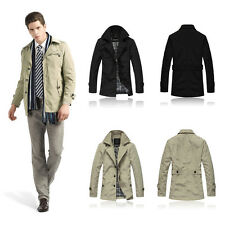 New Fashion Men's Casual Jacket Slim Fit Outwear Coat Parka Windbreaker Overcoat