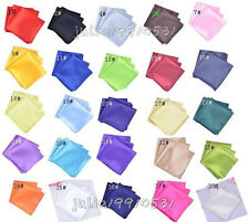 25 Colors Formal Men's Solid Retro Style Gentleman Pocket Square Handkerchief