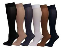 6 Pairs Women's Queen Plus Size Opaque Spandex Knee High Trouser Socks 10-13