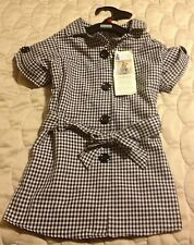 Adorable First Lady Dog Gingham Trench Coat - NWT