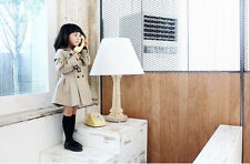 W New Kids Baby Girls Warm Casual Outerwear Double-breasted Trench Coat 5 Sizes