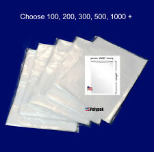 """100-1000 7x9"""" Clear Poly Bags 1Mil LDPE Layflat Open Top End Plastic Baggies"""