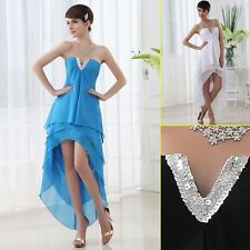 2013 In stock Cheap Blue Black White Short front long back Prom Party Dresses