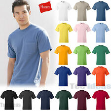 New Hanes Beefy-T with a Pocket 100% Cotton T-Shirt S,M,L,XL,2XL,3XL Tee 5190