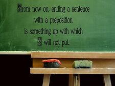 Wall Sticker FROM NOW ON, ENDING A SENTENCE WITH A Quote Vinyl Decal EN-36-C2