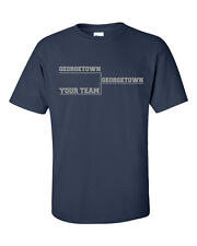 GEORGETOWN BASKETBALL Final Tournament Bracket YOUR TEAM  Men's Tee Shirt 612Gra