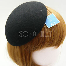 (14cm) Classic 100% Wool Air Hostesses Beret Fascinator Pillbox Hat MULTI COLORS