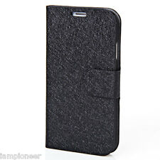 Plastic and Silk Veins PU Leather Stand Case for Samsung Galaxy S4 i9500/i9505