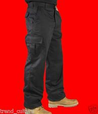 "NEW! MENS CARGO COMBAT WORK COLLEGE LEISURE TROUSERS BLACK & NAVY 28""- 50"" WAIST"