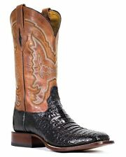 LUCCHESE Since 1883 M4537.TWF MENS BLACK HORNBACK CAIMAN CROCODILE BOOTS