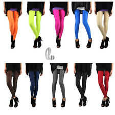 Celeb Style Sexy Low Waist Neon Shiny Dance Disco Pants Leggings Tights p064