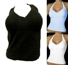 NEW BALI 3008 No Poke Shaping Halter Cami Top Built In Underwire Bra 34 36 38 40
