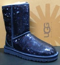 "Authentic UGG Australia ""Classic Short Sparkles"" 1003598 W / MIDN Boots NEW"