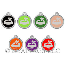 Personalized Engraved Designers Bone in Bowl Large dog tag cat tag by CNATTAGS