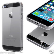ULTRA THIN CLEAR HARD CASE COVER FOR APPLE iPHONE 5 & 5S + SCREEN PROTECTOR