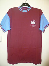 West Ham Home SS Retro Football Shirt 1975 Wembley With Number 4 On The Back