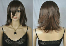 UKJF230 New charming  stylish short black brown health hair wig wigs for women