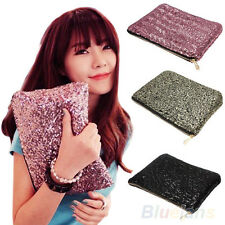 New Glitter Sparkling Sequins Bling Dazzling Clutch Party Bag Handbag Purse BG7U