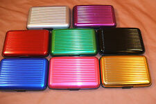 "BUY 2 GET1 FREE DELUXE ALUMA ""STYLE"" ALUMINUM WALLET RFID PROTECTION USA SHIPPER"