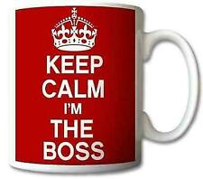 Keep Calm and Carry on I'm The BOSS Mug Cup Gift Mug
