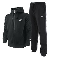 Nike Men's Fleece Full Tracksuit Black - Sizes S M L XL