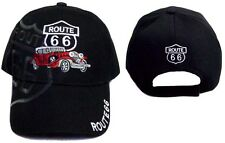 1Pc  or Wholesale  6 Pcs Route 66 Embroidered Baseball Cap - Red Car ( E7508Y)