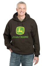 NEW John Deere Dark Brown Hoodie Sweatshirt  M L XL 2X 3X JD