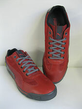 MENS/ UNISEX PUMA SPEED CAT RED & BLACK LEATHER & TEXTILE LACE UP TRAINERS