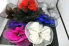 Lady Hair Clip Accessory Flower Feather Fascinator Mesh Wedding Party
