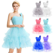 NEW Stock One shoulder Organza Ball Cocktail Evening Prom Party Dress AU 6-20
