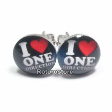 I Love One Direction Stainless Steel Stud Earrings - Mens Womens Fashion - New