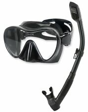 Phantom Aquatics Scuba Snorkeling Freediving Mask Snorkel Set, Adult