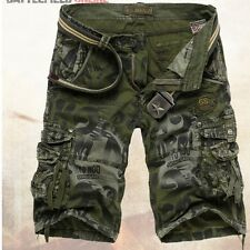 Mens Casual Army military Cargo Combat Camo Overall Shorts Leisure Pants 9Color