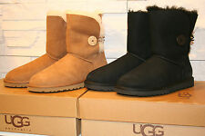 Authentic UGG Australia Women's Bailey Button Boots 5803 ChestNut Black Siz 6-10