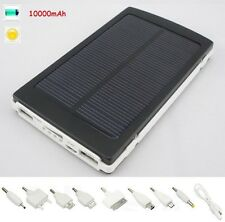 10000mAh Solar Panel Power Bank Charger Battery for Mobile Samsung Iphone5s HTC