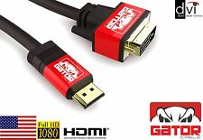 Gator Cable 10 FT. HDMI to DVI Cable Male 24+1 V1.4 3D 1080P HDTV HD Monitor DVI