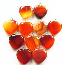 10/20/40/60/100pcs Natural Red Agate Heart Pendant Bead B0100