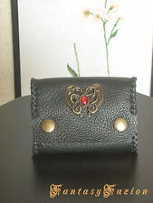 Victorian Renaissance Sorceress Dragon Concho Leather Coins Wallet