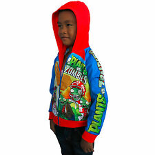 New Plants vs Zombies Jacket for Kids Red and Blue Size 3 to 13 Years
