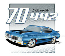 """1970-72 Olds 442 ProTour """"Year/Make/Model"""" CUSTOM T-Shirt PICK YOUR YEAR COLOR"""