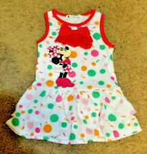 MINNIE MOUSE GIRLS FUN POLKA DOT Vacation BIRTHDAY PARTY DRESS  SIZES 18m-5T