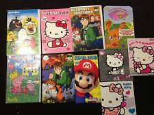 CHARACTER BIRTHDAY CARDS-MARIO, HELLO KITTY, PEPPA PIG, MOSHI MONSTER AND OTHERS
