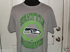 """Brand New Seattle Seahawks """"Fly To Victory"""" NFL Gray T-Shirt All Sizes Available"""