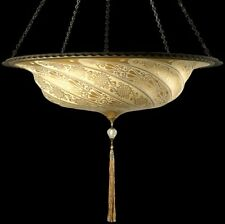 Venetia Studium - Fortuny G-055-SA-1 Scudo Saraceno Decorated Glass Suspended -